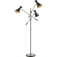 Dimond Lighting D4520 Chiron 73 inch 7 watt Black / Aged Brass Floor Lamp Portable Light