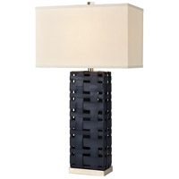 Dimond Lighting D4522 Strapped Down 32 inch 150 watt Polished Nickel / Navy Blue Table Lamp Portable Light