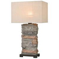 Dimond Lighting D4546 Clean Slate 29 inch 100 watt Slate / Bronze Outdoor Table Lamp