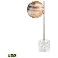 Dimond Lighting D4588 Grey Planetary 18 inch 5 watt Atmosphere White / White Marble / Satin Nickel Table Lamp Portable Light