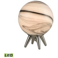 Dimond Lighting D4626 Grey Planetary 13 inch 7 watt Atmosphere White / Satin Nickel Table Lamp Portable Light