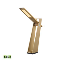 Dimond Lighting Signature Flat Fold 1 Light LED Desk Lamp in Gold with Natural Aluminum Brush Metal Shade DLL400-95-85