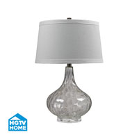 Dimond Lighting HGTV Home Clear Water Glass Table Lamp With White Linen Shade in Clear HGTV147
