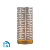 Dimond Lighting HGTV Home Printed Leaf Uplight in Cameron Light Stain HGTV154