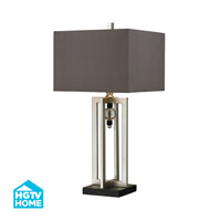 Dimond Lighting HGTV Home 1 Light Table Lamp in Silver Leaf / Black HGTV228
