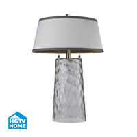 HGTV Home 25 inch 60 watt Clear Table Lamp Portable Light