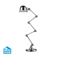 HGTV Home 12 inch 40 watt Chrome Floor Lamp Portable Light