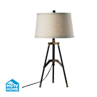 Dimond Lighting HGTV Home 1 Light Table Lamp in Restoration Black / Aged Gold HGTV309