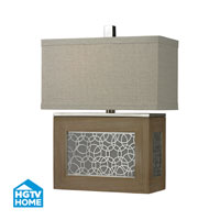 HGTV Home 23 inch 150 watt Bleached Wood / Chrome Accents Table Lamp Portable Light