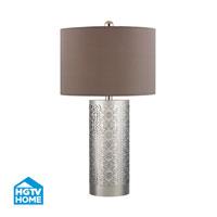 Dimond Lighting HGTV Home 1 Light LED Table Lamp in Polished Nickel HGTV336-LED