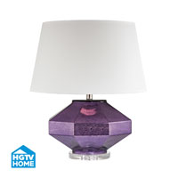 Guild 23 inch 150 watt Mercury Amethyst Table Lamp Portable Light