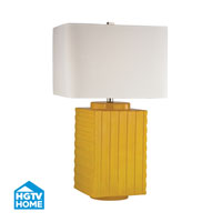 Booker 28 inch 150 watt Yellow Table Lamp Portable Light