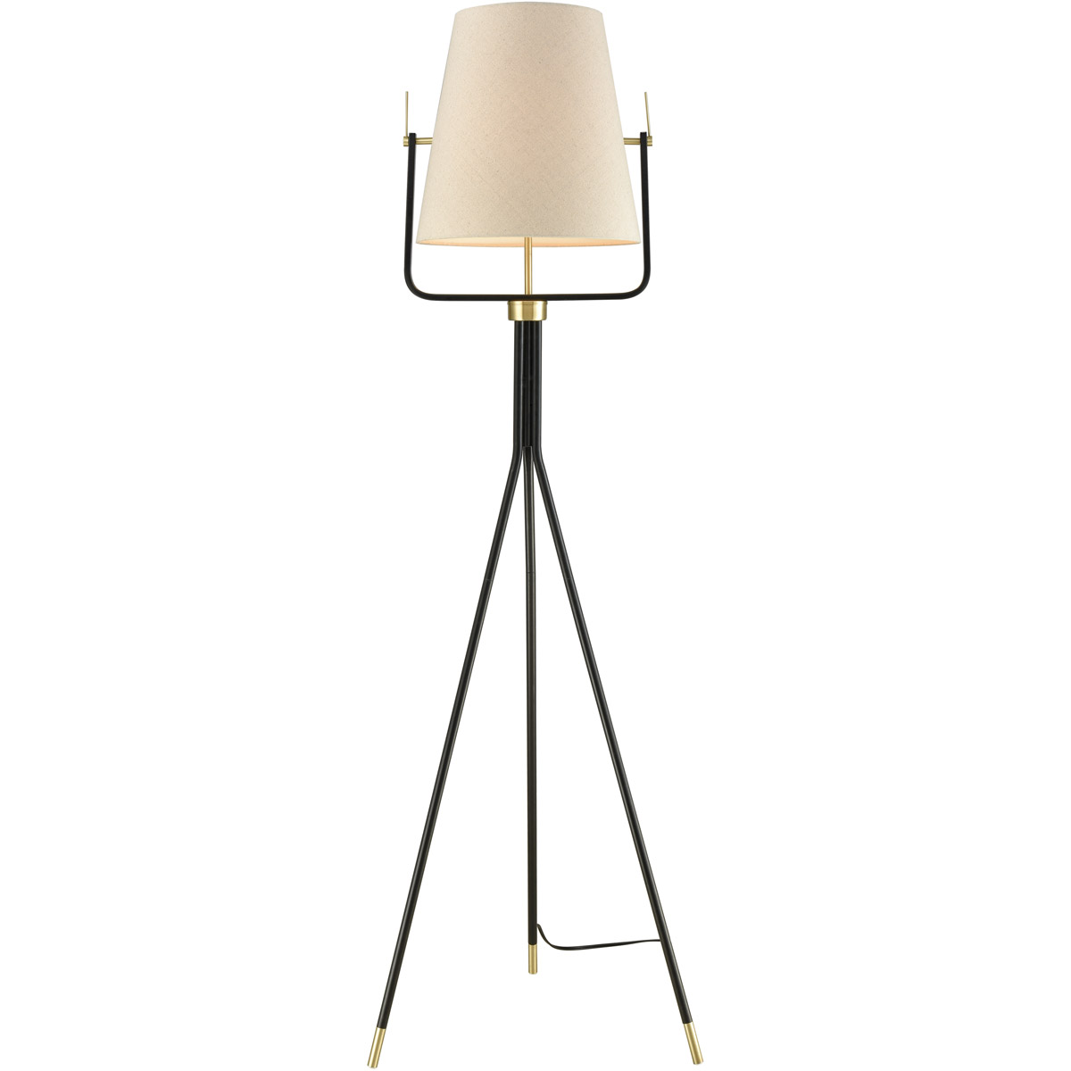 Dimond Lighting D3367 Cromwell Floor Lamp Black And Brass 843558153732 Ebay
