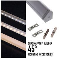 Diode LED DI-CPEC-45PDW Chromapath White End Cap Premium Diffusion