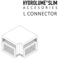 Hydrolume White Strip Light L Connector