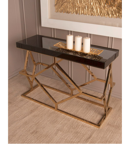 Dimond Home 1114-169 Deco 46 X 16 inch Gold Plate and Black Console Table 1114-169_rm1.jpg