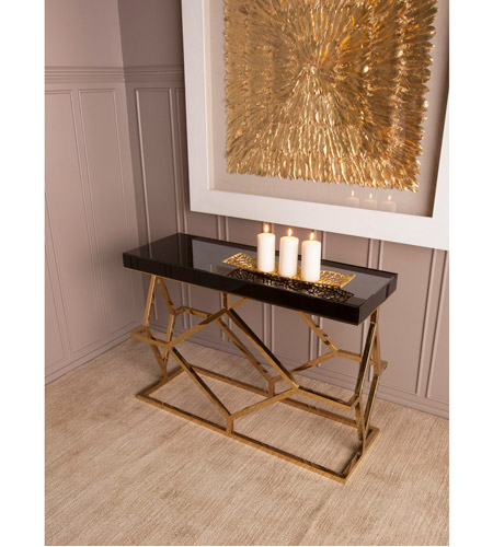 Dimond Home 1114-169 Deco 46 X 16 inch Gold Plate and Black Console Table 1114-169_rm2.jpg