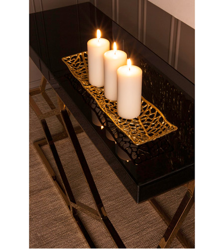 Dimond Home 1114-169 Deco 46 X 16 inch Gold Plate and Black Console Table 1114-169_rm3.jpg