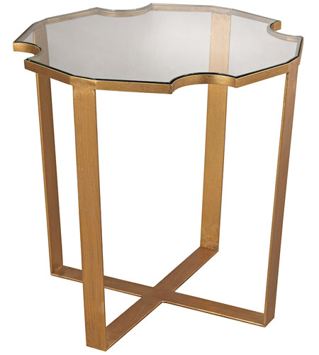 Dimond Home 1114-173 Cutout Top 21 X 16 inch Gold Leaf Side Table