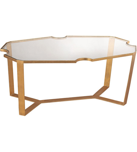 Dimond Home 1114-175 Cutout Top 42 X 24 inch Gold Leaf Martini Table