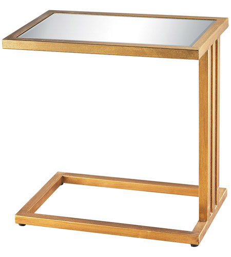 Dimond Home 1114-199 Andy 20 X 20 inch Gold Leaf and Clear Mirror Side Table