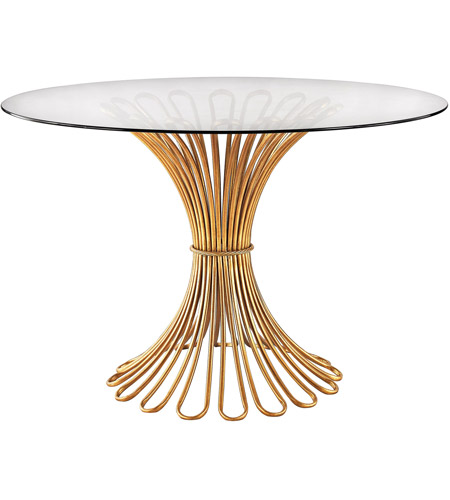 Dimond Home 1114-203 Flaired Rope 48 X 48 inch Gold Leaf Entry Table