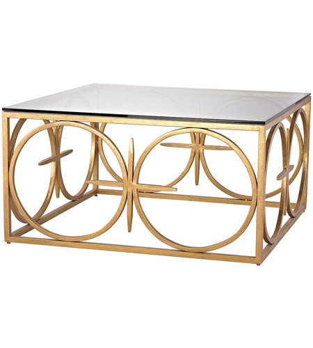 Dimond Home 1114-219 Amal 36 X 36 inch Antique Gold Leaf Coffee Table