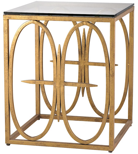 Dimond Home 1114-221 Amal 25 X 20 inch Antique Gold Leaf Side Table
