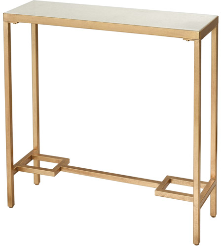 Dimond Home 1114-316 Equus 30 X 9 inch Antique Gold Leaf and White Console Table, Small