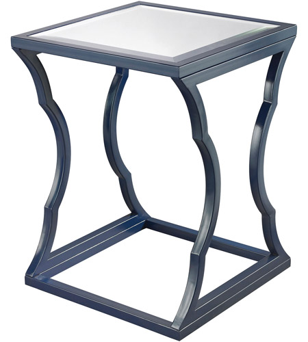 Dimond Home 114-117 Cloud 24 X 18 inch Navy Blue and Mirror Side Table