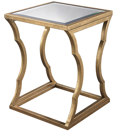 Dimond Home 114-118 Cloud 24 X 18 inch Antique Gold Leaf and Mirror Side Table
