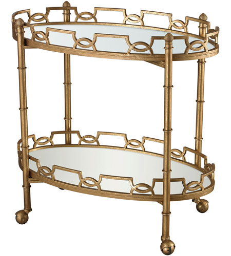 Dimond Home 114-136 Curvilinear 32 X 32 inch Antique Gold Leaf and Antique Mirror Tray Table, 2-Tier