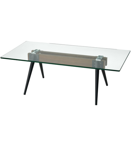 Dimond Home 1203 022 Meatng 48 X 24 Inch Walnut And Bronze Clear Coffee Table
