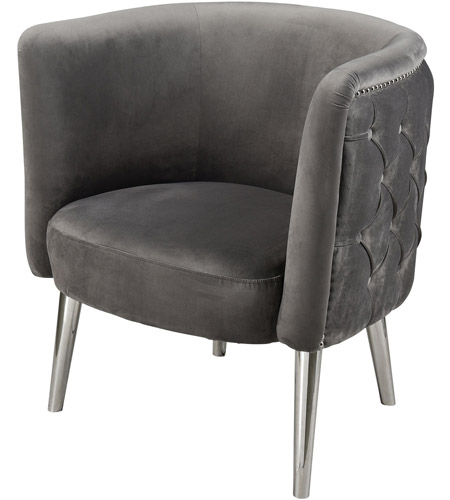 Dimond Home 1204-083 Black Pudding Grey Velvet Chair