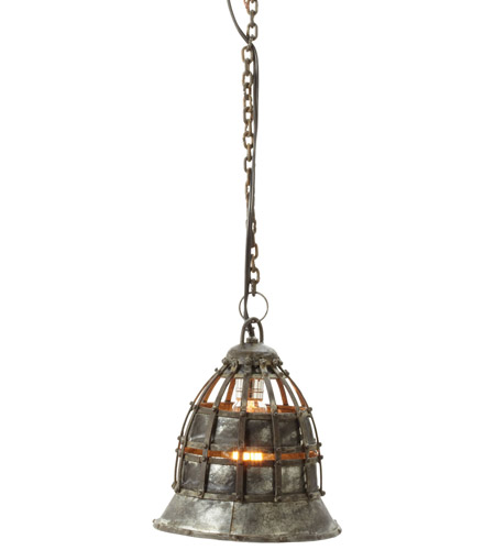 Dimond Home 135003 Fortress 1 Light 8 inch Distressed Silver Pendant Ceiling Light
