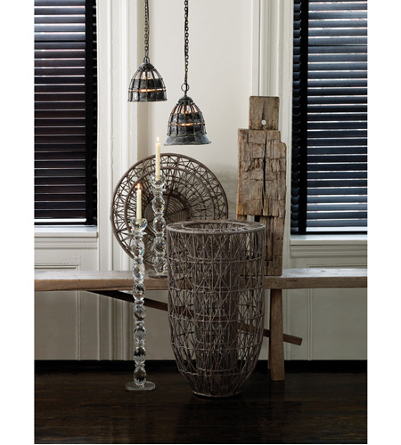 Dimond Home 135003 Fortress 1 Light 8 inch Distressed Silver Pendant Ceiling Light 135003_rm1.jpg