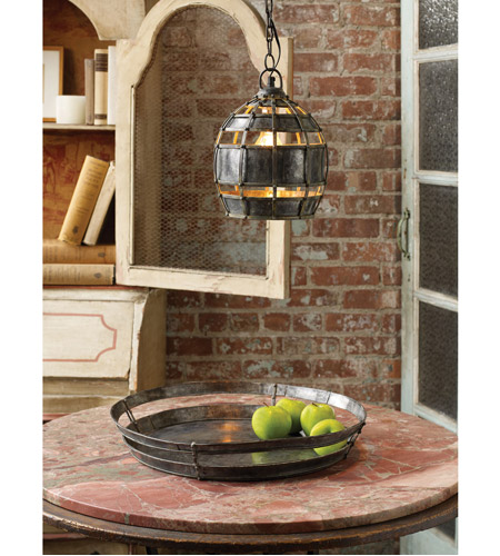 Dimond Home 135008 Fortress 1 Light 9 inch Distressed Silver Pendant Ceiling Light, Round 135008_rm2.jpg