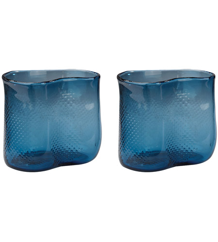 Dimond Home 154-012/S2 Fish Net 8 X 7 inch Vase in Navy Blue