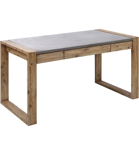 Dimond Home 157-062 Brooklyn Heights Atlantic Brush and Polished Concrete Outdoor Desk