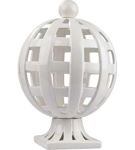 Dimond Home 167-010 Basket Weave Gloss White Decorative Trophy