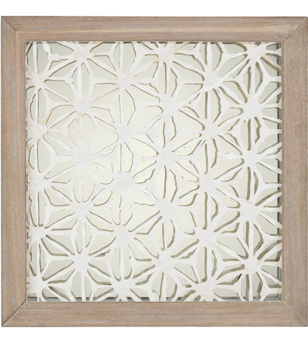 Dimond Home 168-004 Fibers-On-Foil Natural Washed Wood Tone and Silver Wall Art