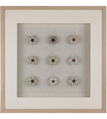 Dimond Home 168 011 Sea Urchin Natural Shells White Wall Art