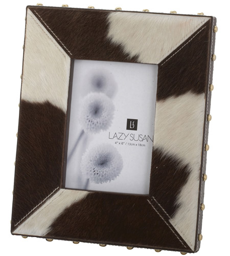 Dimond Home 173033 Faux Pony 9 X 7 inch Picture Frame in Holstein, 4x6, 4x6