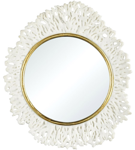 Dimond Home 2182-040 Coconut Creek 22 X 20 inch White and Gold Wall Mirror