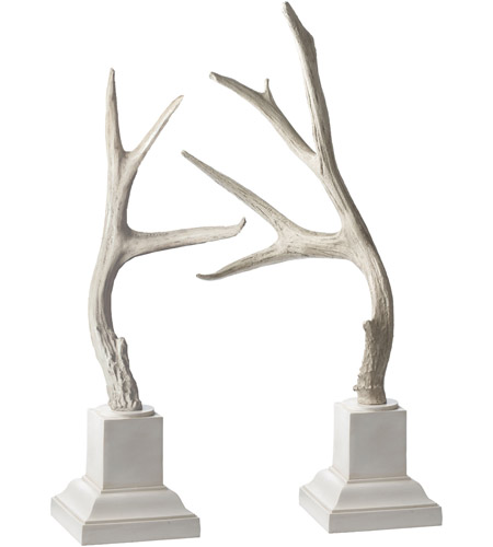 Dimond Home 225019 Buck Antlers 25 X 7 inch Sculpture, White Base