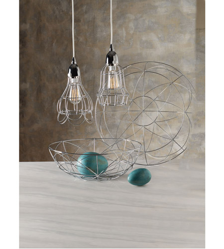 Dimond Home 225040 Barrel 1 Light 6 inch Silver Pendant Ceiling Light 225040_rm2.jpg