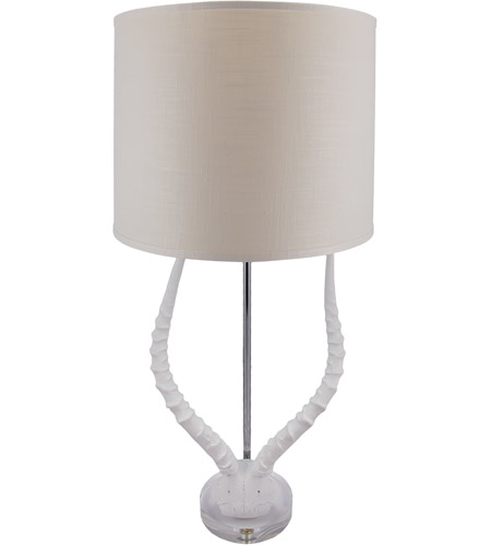 Dimond Home 225091 Faux Horn 31 inch 100 watt White Table Lamp Portable Light