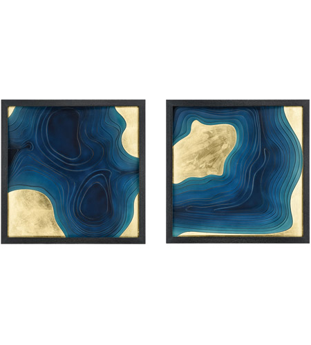 Dimond Home 3168-061/S2 Blue Spill Blue Wall Art, Set of 2