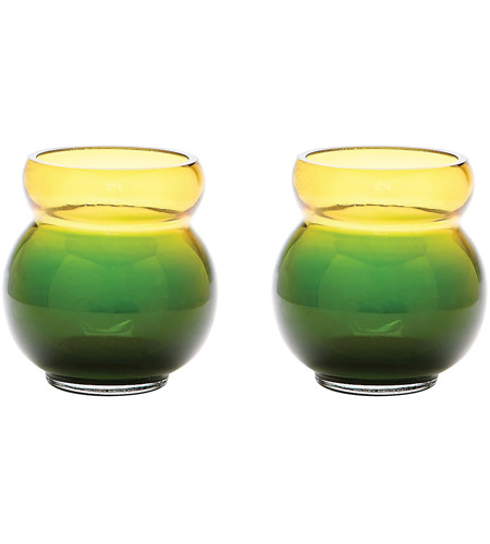 Dimond Home 464076/S2 Bubble 4 X 4 inch Votive in Green and Yellow