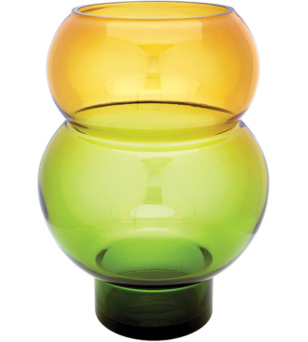 Dimond Home 464077 Bubble 16 X 12 inch Vase in Green and Yellow